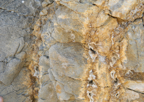 Photo 2012-160 : Cambrian, lower clastic member. A. Basal, planar cross-bedded quartz arenite