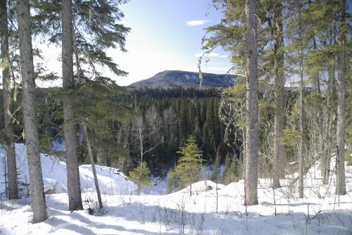 Photo 2013-081 : Tsoo Tablelands in northeast British Columbia, view north