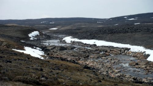 Photo 2017-046: Meltwater channel which emptied into Wager Bay during deglaciation