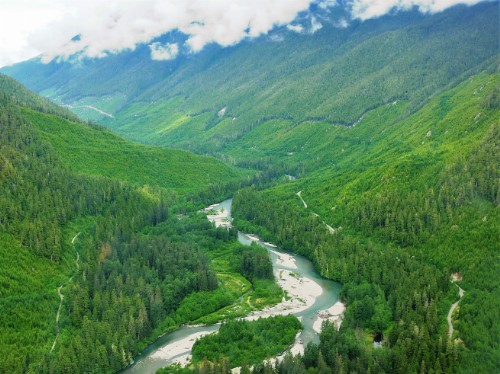 Photo 2017-130: Westerly downstream view of middle Kitimat Valley