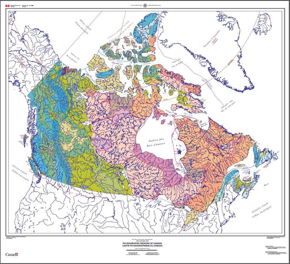 Map Of The Regions Of Canada.Geoscan Search Results Fastlink
