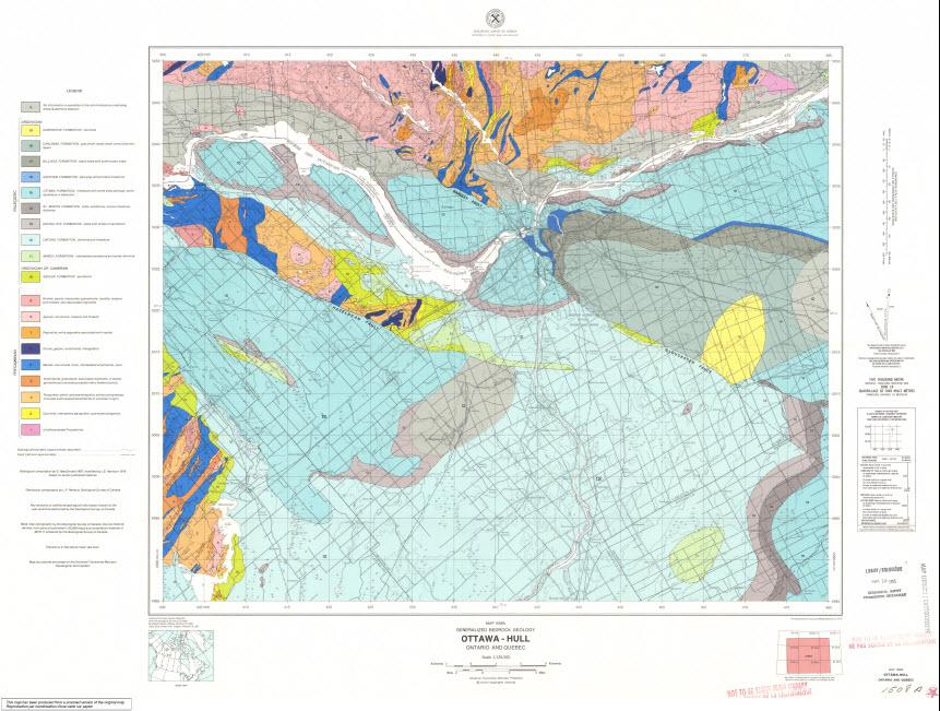 Map Of Ottawa Canada.Geoscan Search Results Fastlink