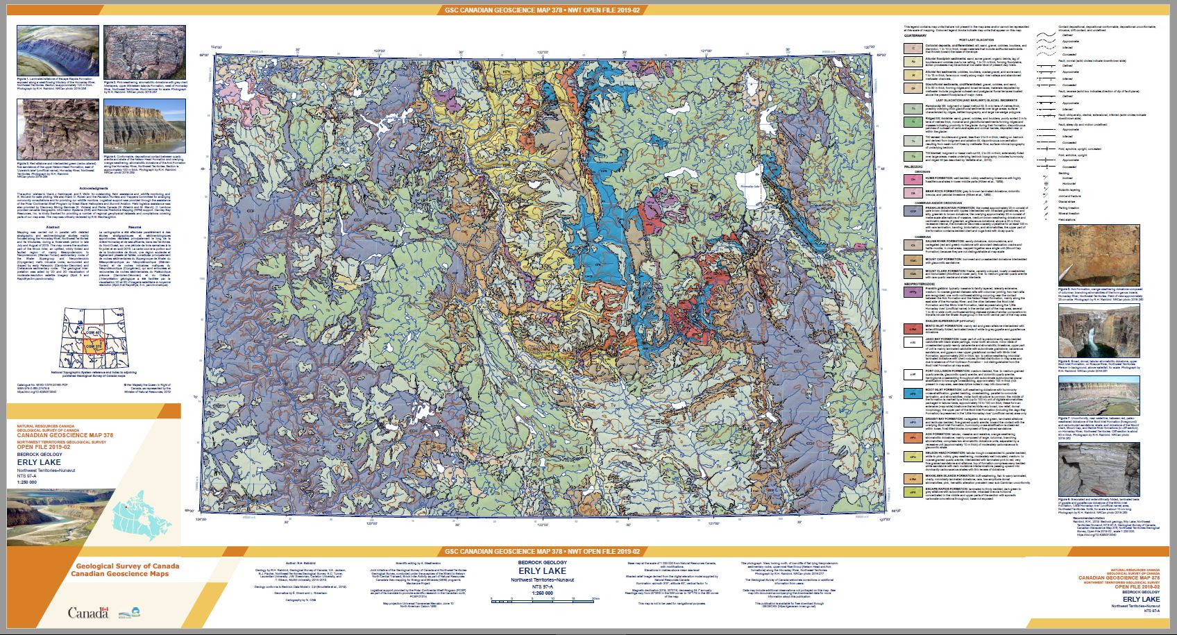 Bedrock geology Erly Lake Northwest Territories-Nuvanut NTS 97-A