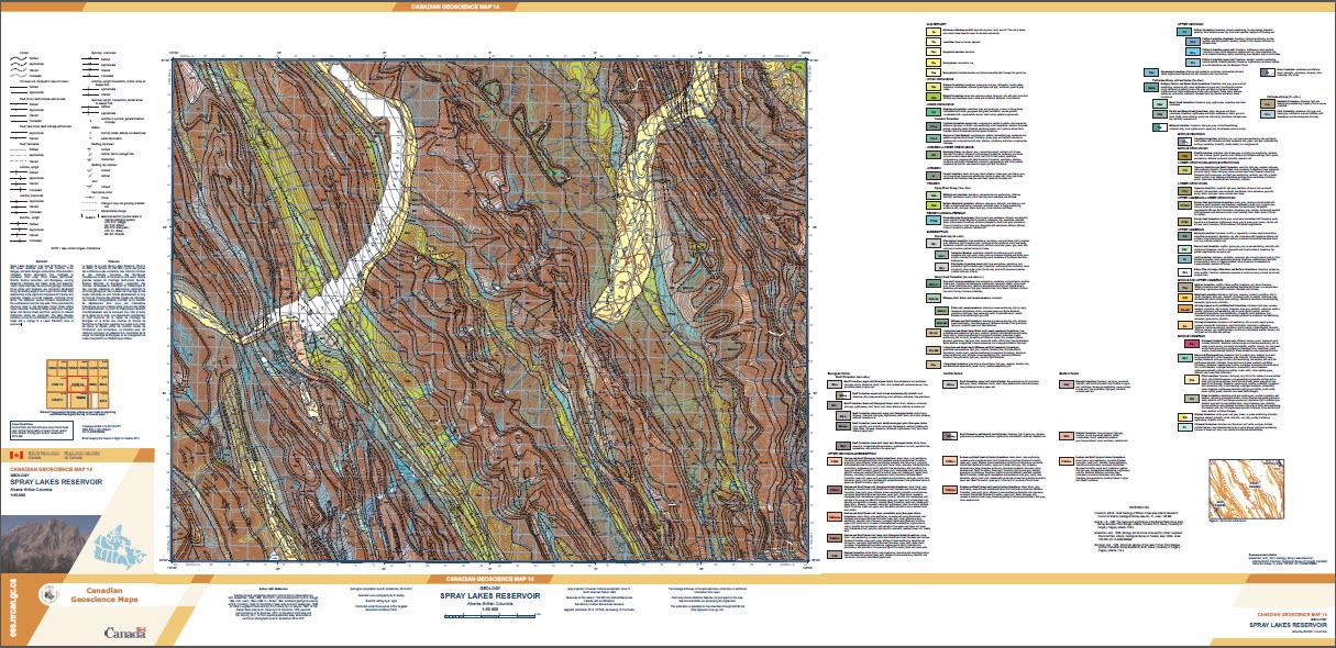 Geology, Spray Lakes Reservoir, Alberta - British Columbia