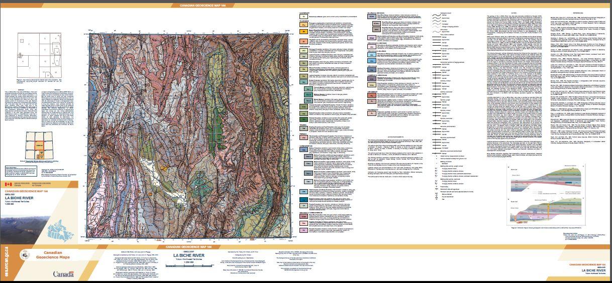 Thumbnail image of product. Geology, La Biche River, Yukon - Northwest Territories