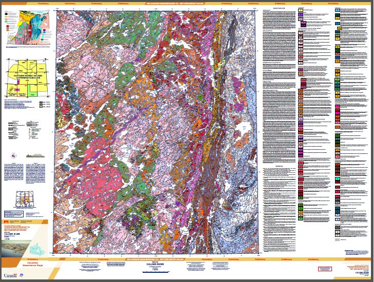 Geology, Calder River, Northwest Territories, NTS 86-F