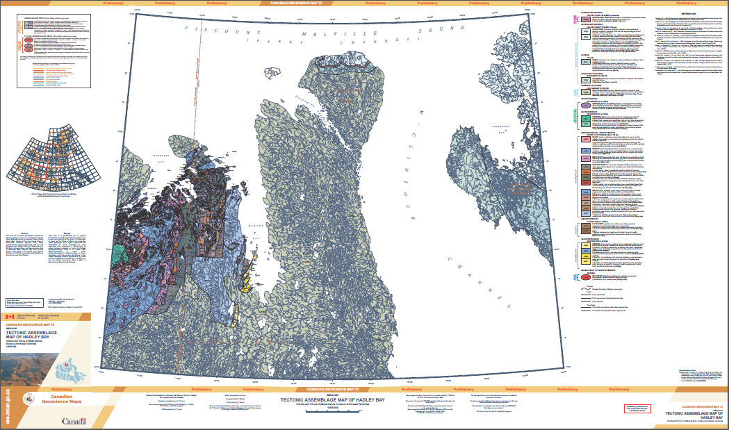 Geology, tectonic assemblage map of Hadley Bay, Victoria and Prince of Wales islands, Nunavut - Northwest Territories