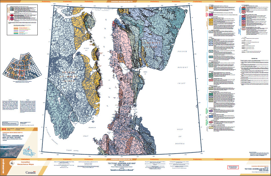 Geology, Tectonic assemblage map of Peel Sound, Prince of Wales and Somerset islands, Nunavut