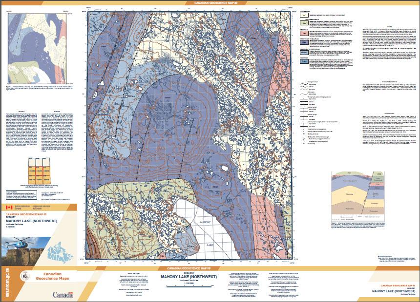 Geology, Mahony Lake (northwest), Northwest Territories