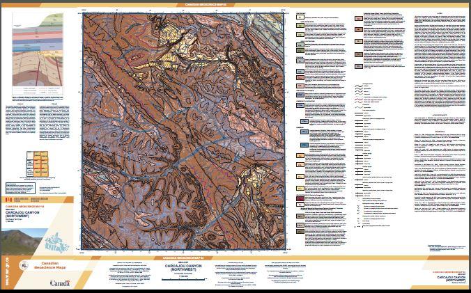 Geology, Carcajou Canyon (northwest), Northwest Territories