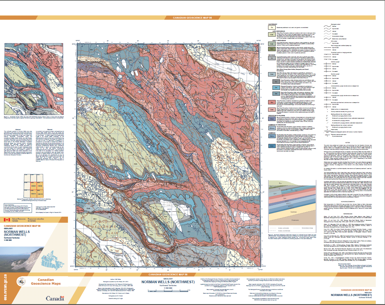 Geology, Norman Wells (northwest), Northwest Territories