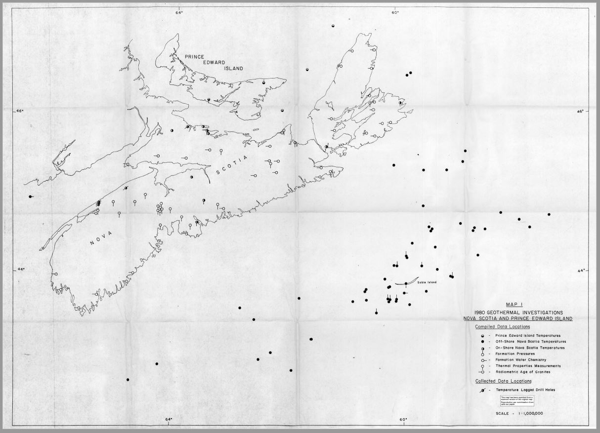 Investigation of geothermal energy resources, Nova Scotia and Prince Edward