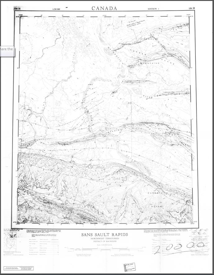 Geology of upper Ramparts river (106G) and Sans Sault Rapids (106H) map-area, District of Mackenzie
