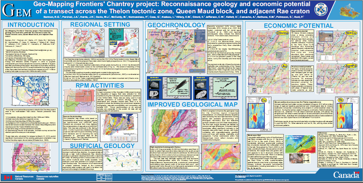 Geo-Mapping Frontiers Chantrey project: Reconnaissance geology and economic potential of a transect across the Thelon tectonic zone, Queen Maud block, and adjacent Rae craton