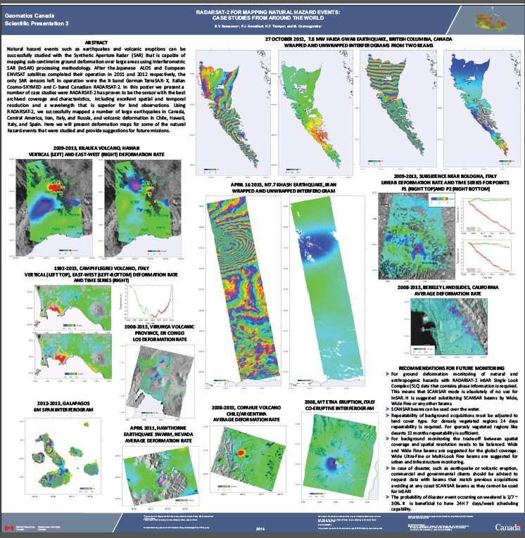 Thumbnail image of product. RADARSAT-2 for mapping natural hazard events: case studies from around the world